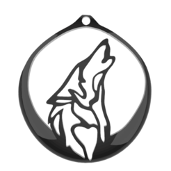 Download 3D printing templates Wolf pendant, GENNADI3313