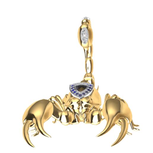 Screenshot_5.png Download free STL file Said Scorpion charm • 3D printing object, GENNADI3313