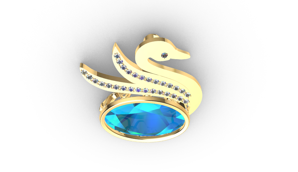 Screenshot_2.png Download free STL file Swan JEWEL • 3D printer object, GENNADI3313