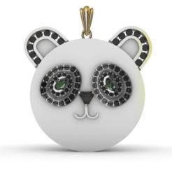 Descargar Modelos 3D para imprimir gratis Colgante Oso Panda, gennadi3313