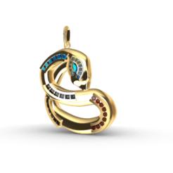 Télécharger fichier STL gratuit Pendentif serpent • Objet imprimable en 3D, GENNADI3313