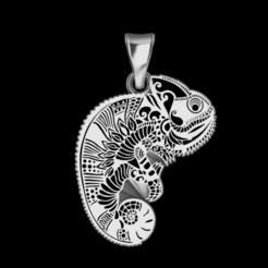 Download STL file Hanging chameleon • 3D printing template, GENNADI3313