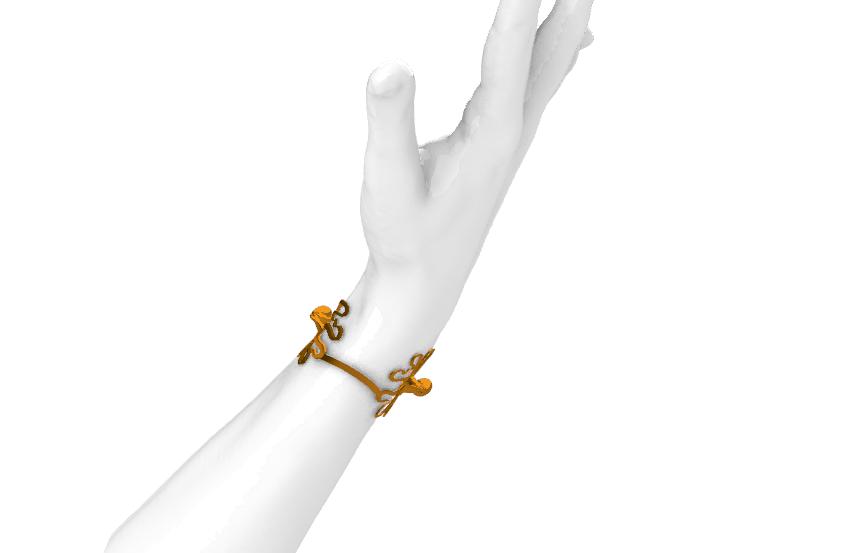 Screenshot_14.png Télécharger fichier STL gratuit Bracelet de pieuvre • Plan à imprimer en 3D, GENNADI3313