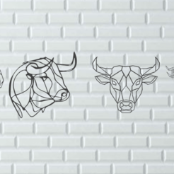 Screenshot_7.png Download free STL file Bulls and buffaloes-Wall decoration • 3D printing object, GENNADI3313