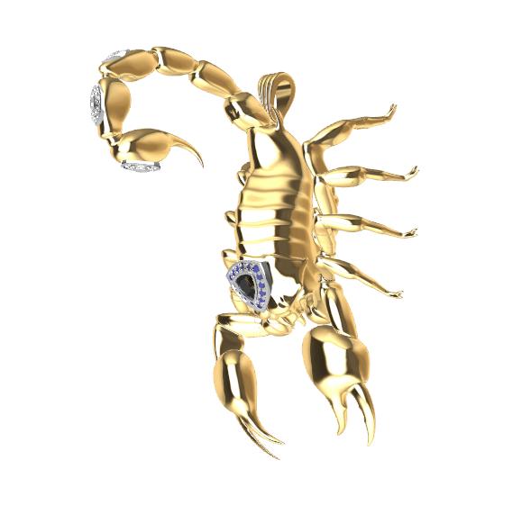 Screenshot_8.png Download free STL file Said Scorpion charm • 3D printing object, GENNADI3313
