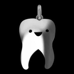 Télécharger objet 3D pendentif en forme de dent, GENNADI3313