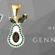 Screenshot_5.png Download free STL file  Avocado gem • 3D printable object, GENNADI3313