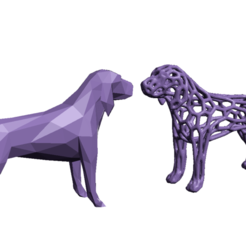 Screenshot_3.png Download STL file Beagle Dog voronoi- low poly • 3D printer model, GENNADI3313