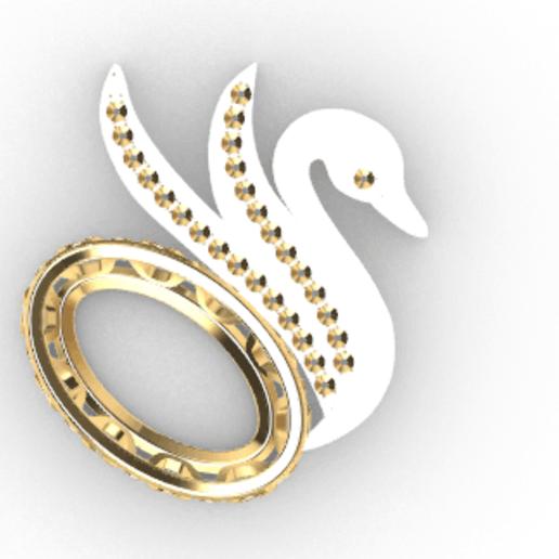 Screenshot_6.png Download free STL file Swan JEWEL • 3D printer object, GENNADI3313