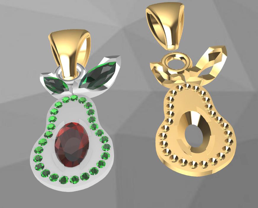 Screenshot_6.png Download free STL file  Avocado gem • 3D printable object, GENNADI3313
