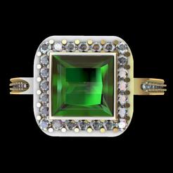 Screenshot_1.png Download STL file Square engagement ring • 3D printing template, GENNADI3313