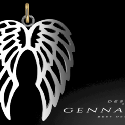 Download 3D printing templates Wings pendant, GENNADI3313