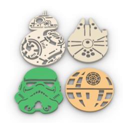 Download 3D printer designs Star Wars cup holder, GENNADI3313