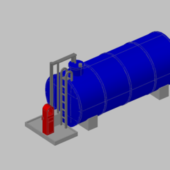 Download free 3D printer templates HO scale DIESEL tank, carlocaponord