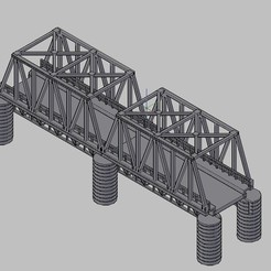 PonteScala_HO.jpg Download free STL file HO scale iron Bridge • 3D printer object, carlocaponord