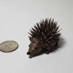 Download free 3D printing templates Cute Porcupine, Dauler