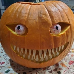 Download free 3D printer model Spooky Pumpkin Teeth and Eyes, Dauler