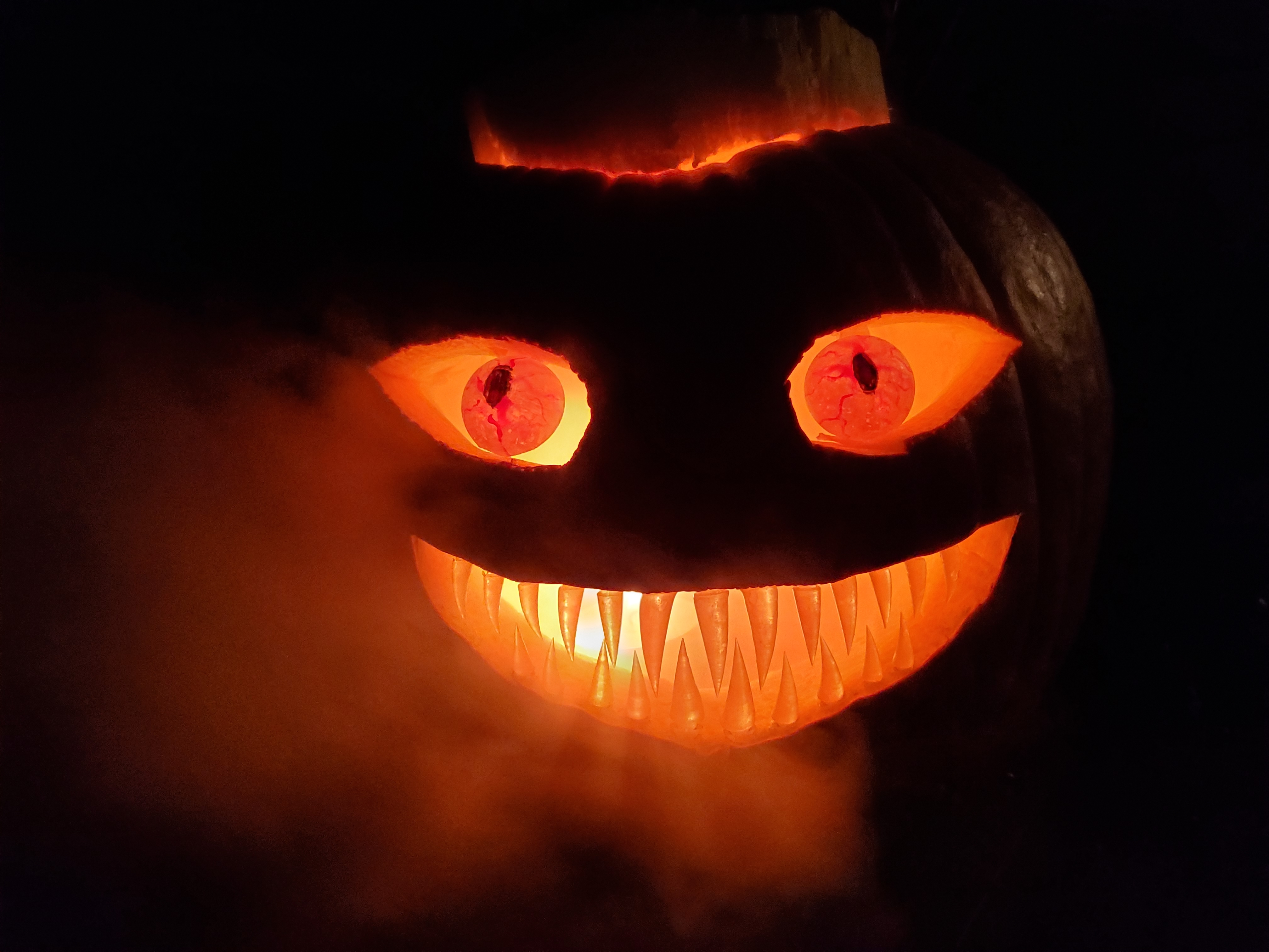 20191031_193206.jpg Download free STL file Spooky Pumpkin Teeth and Eyes • 3D printing template, Dauler