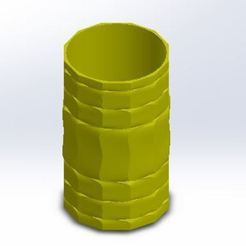 STL file DECORATIVE PENCIL CUP, kim3d