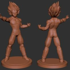 Télécharger plan imprimante 3D gatuit Vegeta Dragon Ball Z, cobal