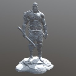 Free 3D printer files god of war kratos old, cobal