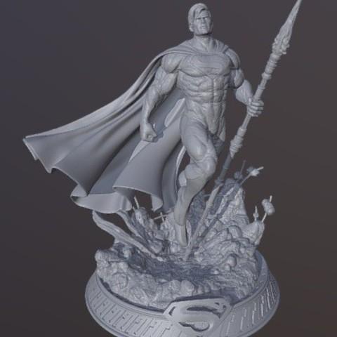 Télécharger modèle 3D gratuit Superman, cobal