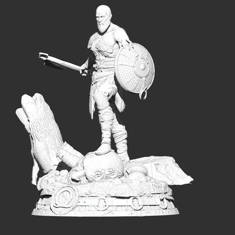 Impresiones 3D gratis dios de la guerra kratos, cobal