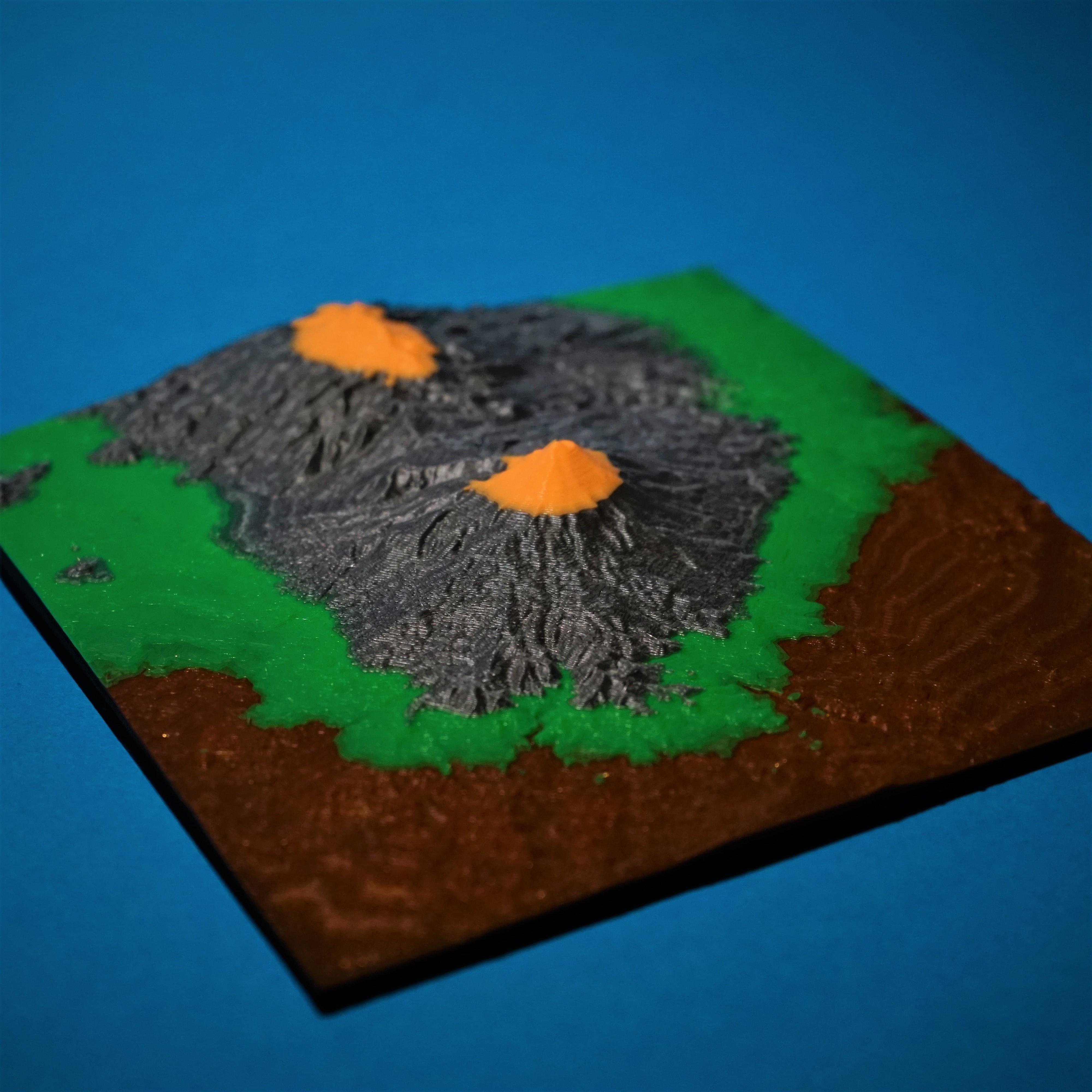Angle1.jpg Download free STL file Popocatepetl • Model to 3D print, benwax10
