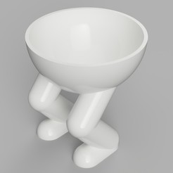 Download 3D printing templates Squatting Planter, benwax10