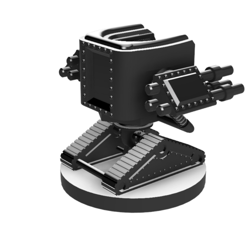 Scythe Tank Mech v7.1.png Download STL file Scythe Tank Mech • 3D printing design, benwax10