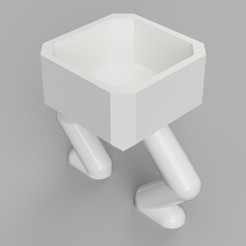 3d printer designs Square Squatting Planter, benwax10
