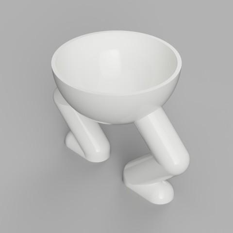 Télécharger fichier imprimante 3D Jardinière ronde Squatting Planter, benwax10