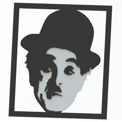 Download 3D printing templates DECORATIVE PICTURE OF CHARACTERS. CHARLES CHAPLIN (ACTOR), pablocorezzola