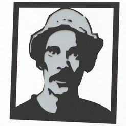 Download 3D printer designs Decorative picture of characters. Don Ramon (El Chavo del 8), pablocorezzola