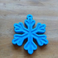 Download STL files Snowflake key ring., pablocorezzola