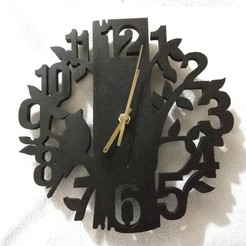 STL files Birds clock, pablocorezzola