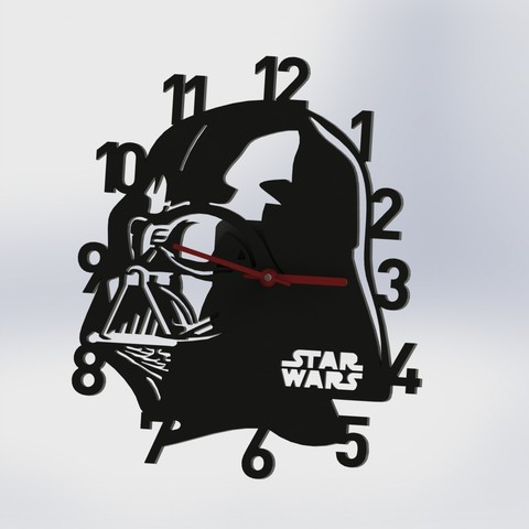 3D print model Darth Vader Watch - Star Wars(Clock), pablocorezzola