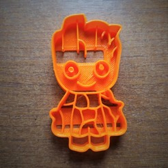 IMG_20200712_164258.jpg Download free STL file Groot - Guardians of the Galaxy (Cutter cookie) • 3D printing template, pablocorezzola