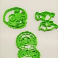 Download 3D printer designs cookie cutter (Pack x3) - Plants vs Zombies, pablocorezzola