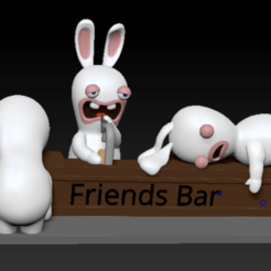 Annotation 2020-08-30 225950.png Download STL file Rabbid Rabbit Cretin Beer Bar for friends • Template to 3D print, bilocq2