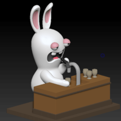 Annotation 2020-08-30 204452.png Download STL file Rabbid Rabbit Cretin Beer Bar • 3D printer object, bilocq2