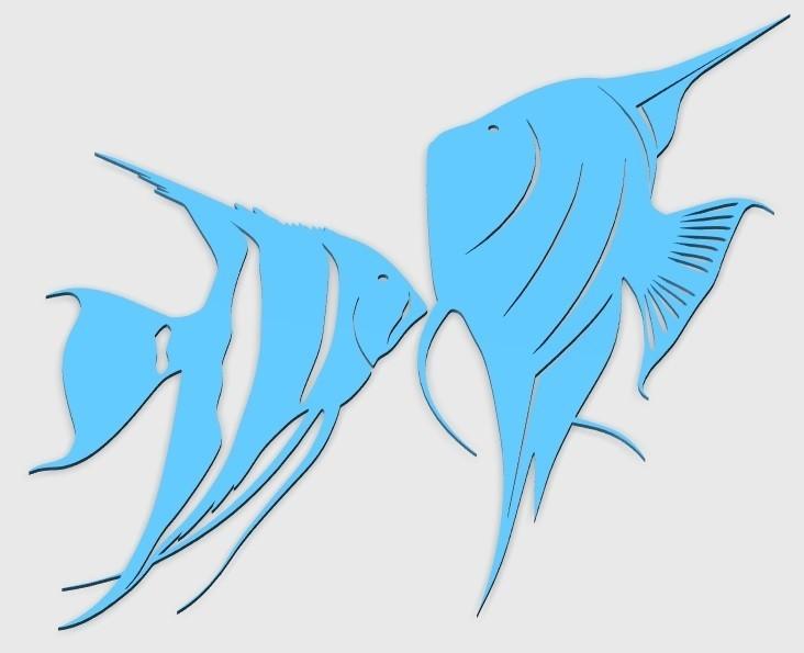 44.jpg Download STL file Angel fish wall art \ Decor • 3D printing object, 3dprintlines