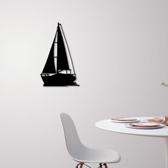 3D printer files Sailing boat for wall decoration, 3dprintlines