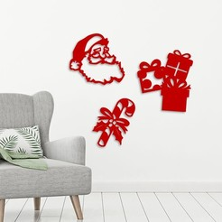 Demo.jpg Download STL file Christmas wall decoration  • Template to 3D print, 3dprintlines