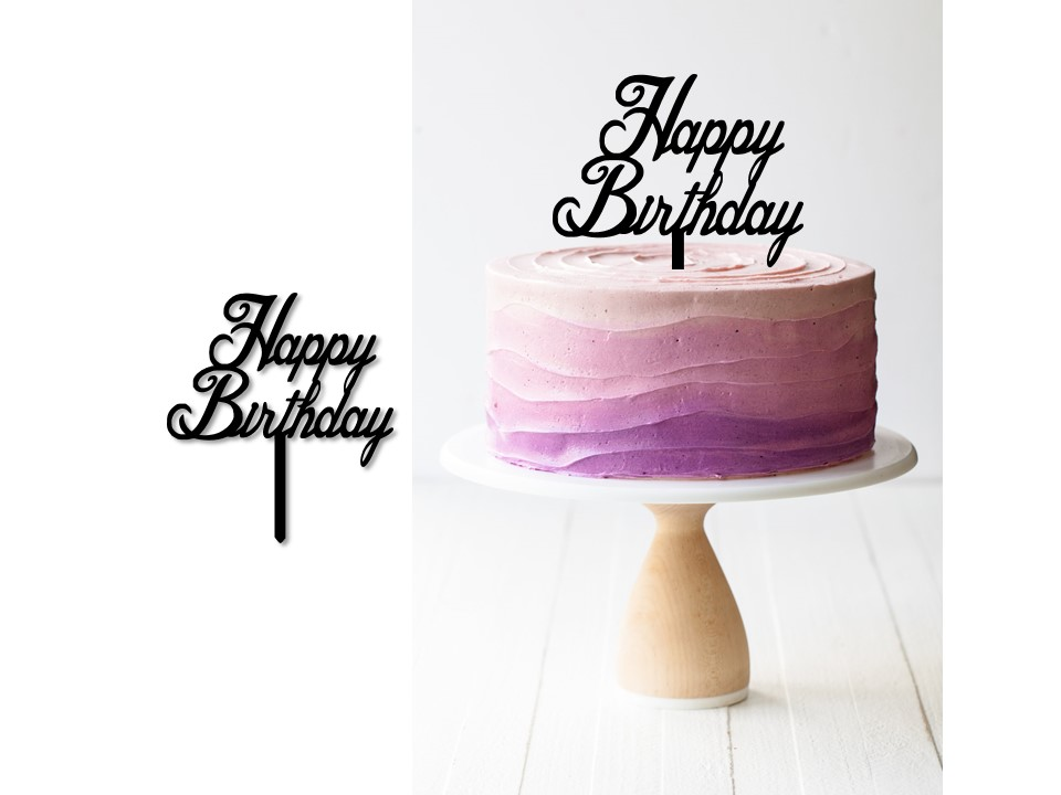 PresentationB2.jpg Download STL file Birthday cake topper ( set of 3 ) • Template to 3D print, 3dprintlines