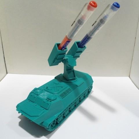 Plan imprimante 3D Porte-stylo et porte-crayon pour lance-missiles M2, 3dprintlines