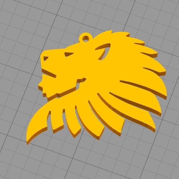 lion head_2.jpg Download free STL file Lion head key chain  • 3D printer object, 3dprintlines
