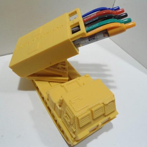 DSC01271.JPG Download STL file Missiles Launcher Pen & Pencil holder • Design to 3D print, 3dprintlines