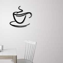 Download 3D printer designs Coffee cup for wall decoration, 3dprintlines
