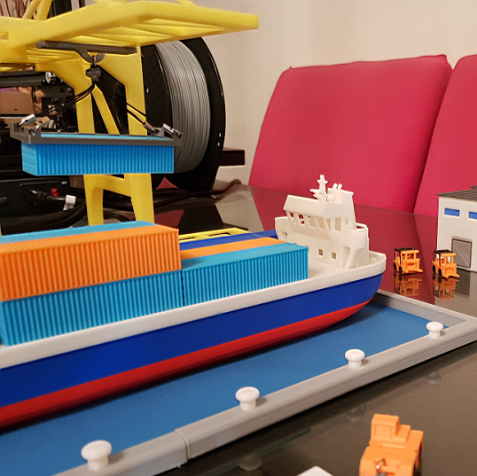 Untitled-4 copy.jpg Download STL file Container Port scale model ( maquette ) • Model to 3D print, 3dprintlines